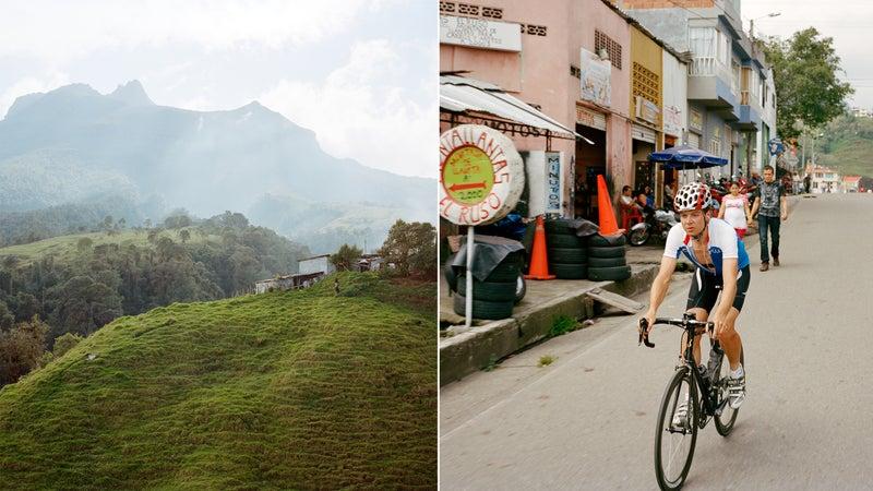 From left: Coffee fields; Alto de Letras.