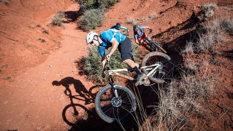 The most important word a biker needs to know on the trails: yield.
