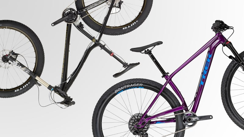 There are four categories of mountain bike frame to consider.