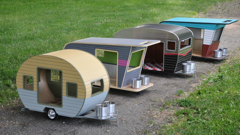 A stylish home for your favorite camping buddy.