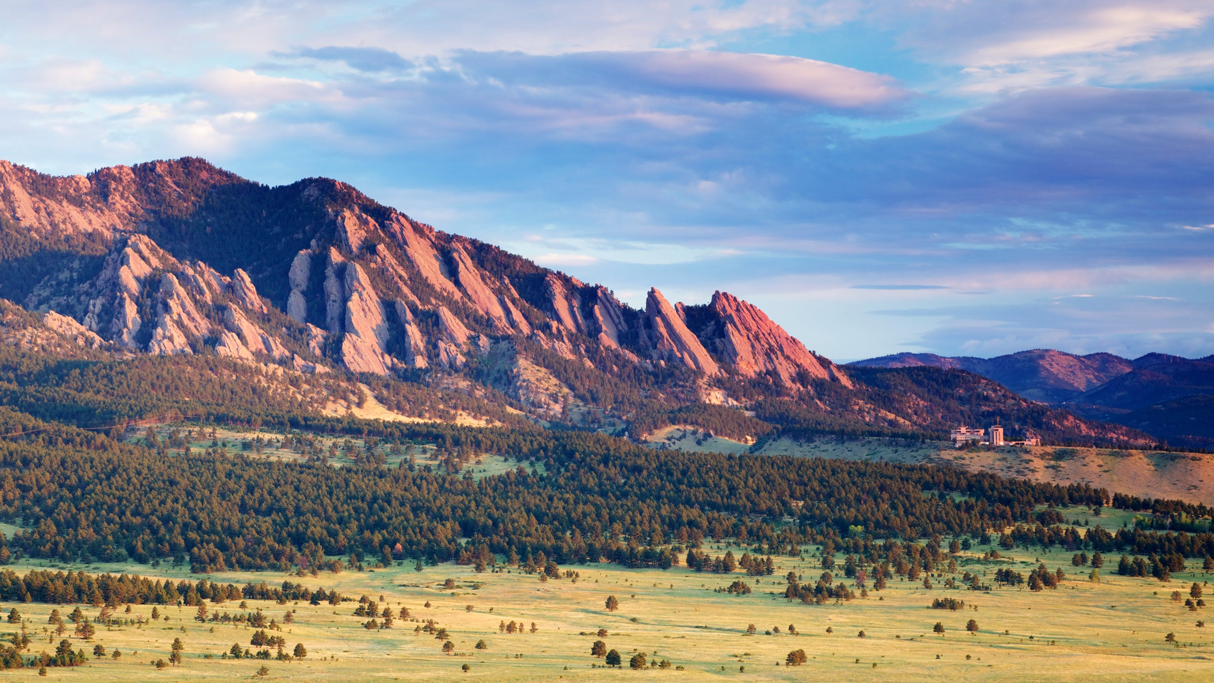 Boulder's favorite symbol—the Flatirons.