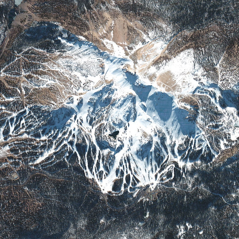 Ski hills are major landforms, not just vertical playgrounds. New tools like Google Earth allow us to glimpse the entirety of the mountains on which ski resorts reside, and even zoom in, tilt, and twirl to experience the pitch and roll of these areas. Thank DigitalGlobe for many of those gobsmacking, manipulatable 3D images, which, it's fair to say, have fundamentally changed our perspective of the world's landscapes. The Westminster, Colorado-based provider of high-definition geospatial imagery currently has four satellites circling the earth, each the size of a small SUV. Collectively, they make 60 passes around the globe each day to monitor the state of the world for a variety of clients, including the federal government and the United Nations. The company recently focused its lenses on the South Pacific to help the Fijian government assess damage to the island nation in the wake of Cyclone Winston, and has helped the World Resources Institute spot forest fires in Indonesia in near-real time. Here, we present a curated collection of images curated by the company. The photos show the nexus of built and natural environments, and, perhaps, call into question just how far we've pushed development—and commerce—into fragile montane ecosystems. DigitalGlobe says these images, if collected into a time series, could even detect evidence of climate change.