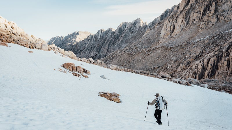 It's mid-July, and much of the Sierra High Route is still blanketed in snow.