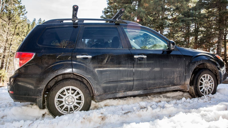 A TKyear Subaru Forester with Michelin X-Ice Xi3 tires.