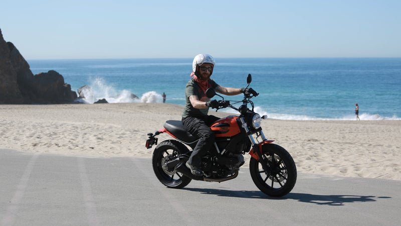 Fun, easy to ride, and stylish, the Scrambler is an ideal companion to transport you to non-riding adventures.