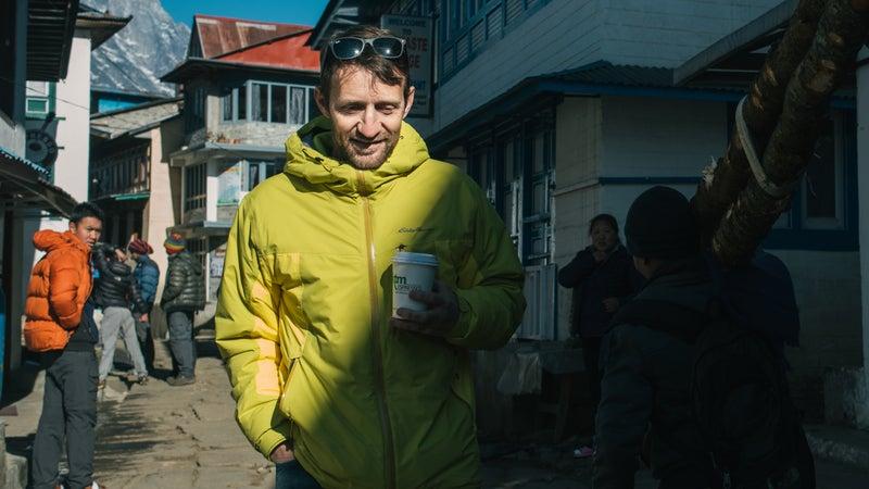 On the street in Lukla.