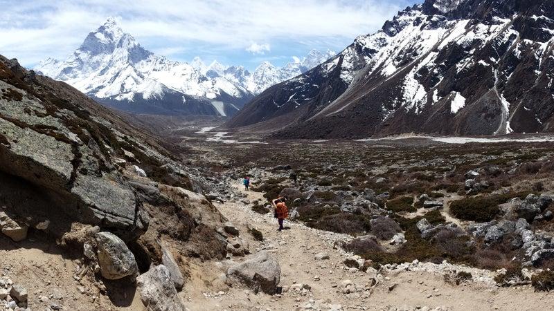 The Imja Khola in the Khumbu region.