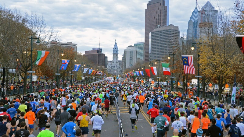 First-timers should opt for a tamer race, like the Philadephia Marathon.