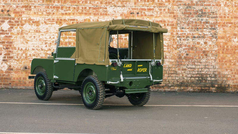 This is a short wheelbase 90 model. Land Rover will also be restoring several long wheelbase 110s.