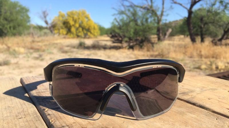 The Variotronic S glasses fully darkened.