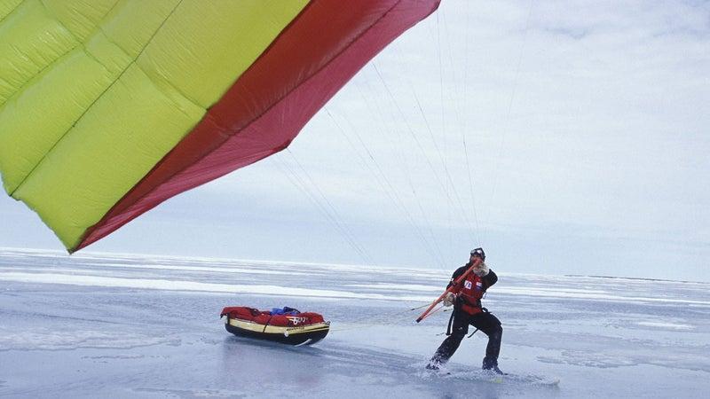 To cross Antarctica, Horn will kite-ski.