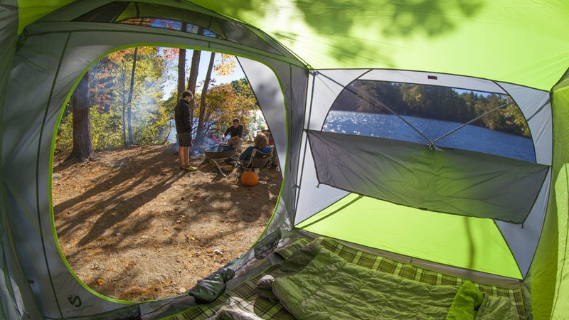 """Inside, the Nemo Wagontop is ridiculously spacious thanks to its vertical walls and 6'6"""" ceiling. With easy, quick setup, and good ventilation, we really can't think of a better car camping tent."""