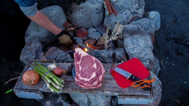 Wouldn't you rather have this for dinner rather than a handful of grubs? Proper planning is all it takes; this was a few nights into a challenging multi-day backpacking trip