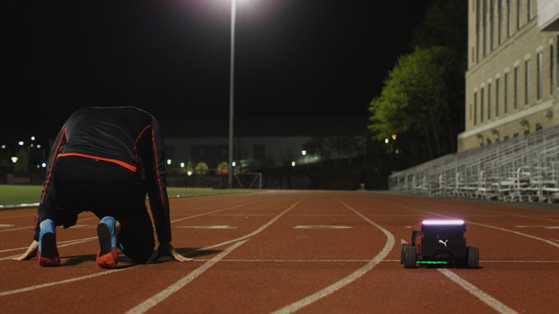 Puma's BeatBot paces runners for as long as they like.