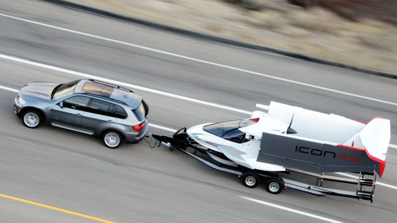 Weighing just 1,001 Lbs, you can tow the A5 behind most cars.