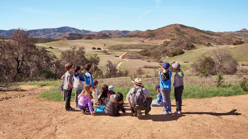 The Coastal group gets schooled at Santa Monica Mountains National Recreation Area.