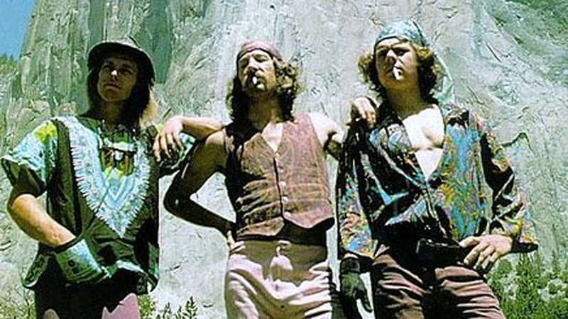 Billy Westbay, Jim Bridwell, and John Long after the first one-day ascent of the Nose in 1975.