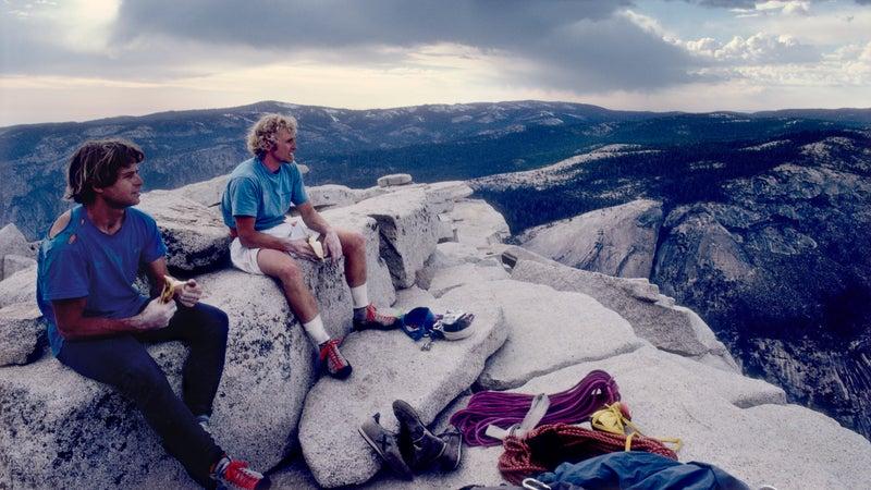 Bachar and Croft climb Half Dome and El Cap in a day.