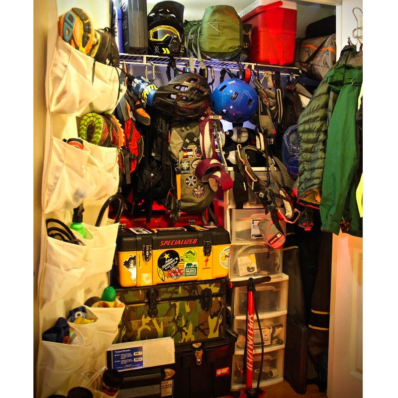 @timk85trek: A respectable gear cave for a one bedroom, 700-something-square-foot apartment in downtown D.C.