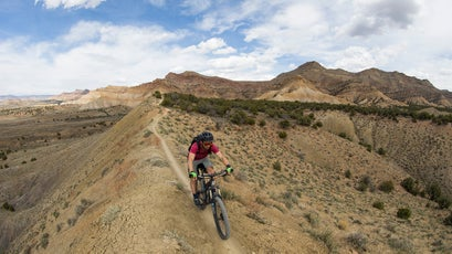 Leven and Clark ended the trip on a high note: sampling some of Fruita's famous singletrack.