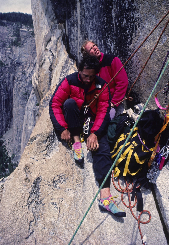 Paul Piana (left) and Todd Skinner.