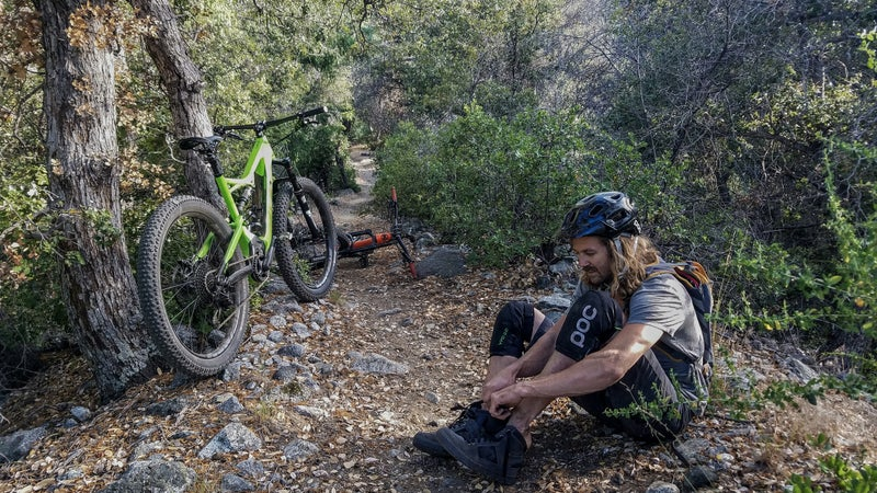 It's still a mountain bike. You're still going to have to pedal. You're still going to get sweaty. You're still going to get sore. Now, you can just go a little further before that happens.