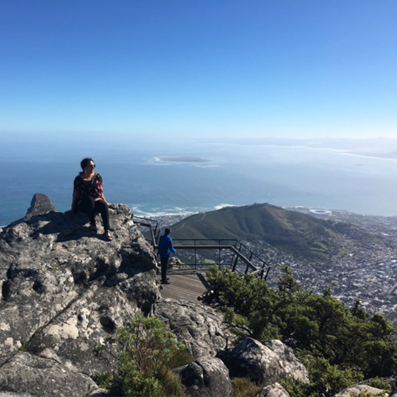 """""""Hiked Table Bay The best view comes after the hardest climb. ⛰ Today we hiked Table Mountain, South Africa's New7Wonders of Nature. It was such a beautiful experience! #visitsouthafrica"""""""