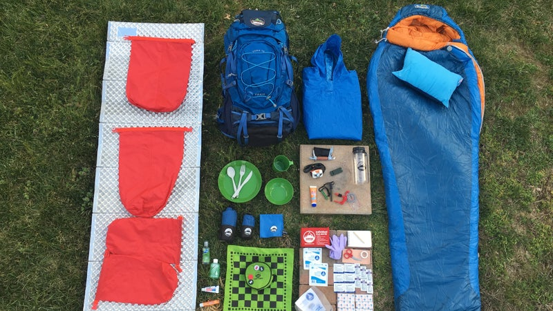 HMW Outdoors generously donated 15 of these Youth Adventure Kits for the trip. They're designed to give your kid everything they need for summer camp, but worked just as well taking these teenagers camping.