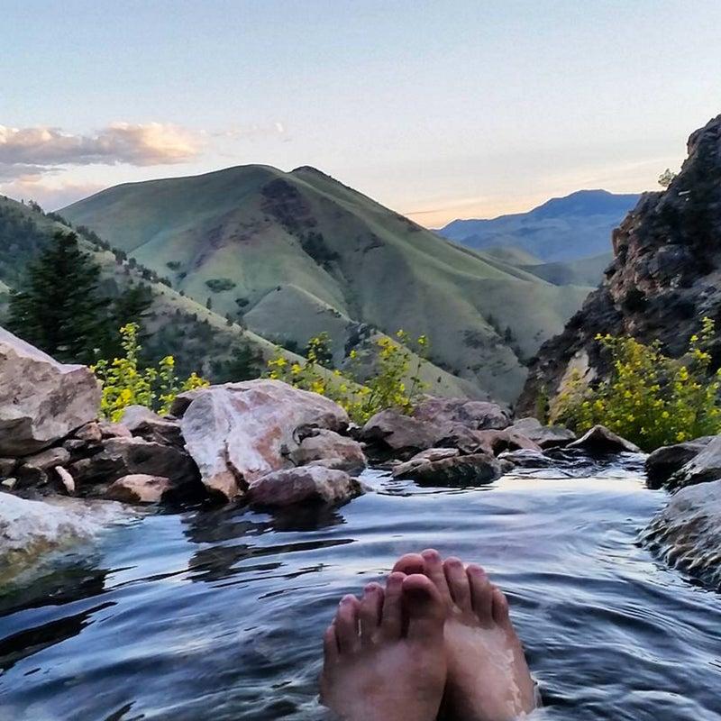 """Ahh infinity pool #hotspring #exploreidaho #Idaho #summerofchaco"""