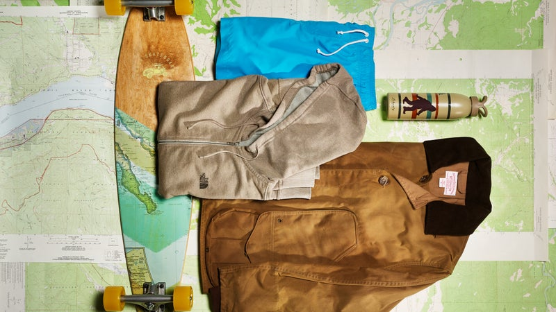 Clockwise from top left: Arbor Fish, The North Face, Vivix, Liberty Bottleworks, Filson.