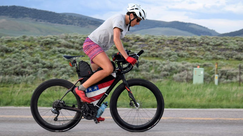 Lael Wilcox just won third edition of the Trans Am bike race in a time of 18 days and 10 minutes.