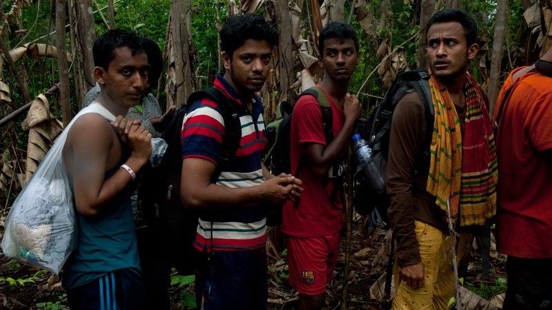 Bangladeshi migrants.