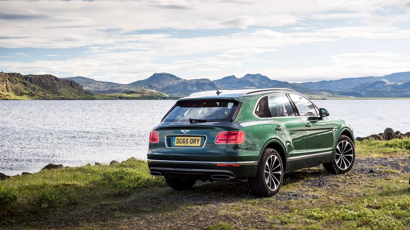 The Bentayga combines classic Bentley styling cues with SUV proportions.