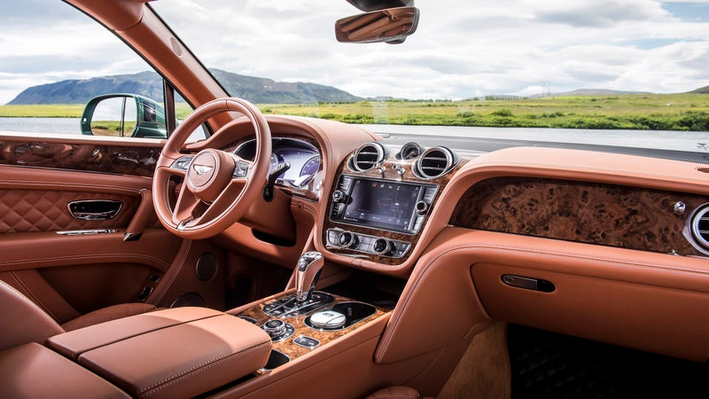 The Bentayga's interior is a truly special place to spend time. Everything you touch is made from the finest possible materials.