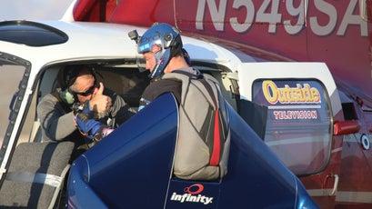 X-Wing co-builder Jason Johanson gives Rex a pep talk before his jump