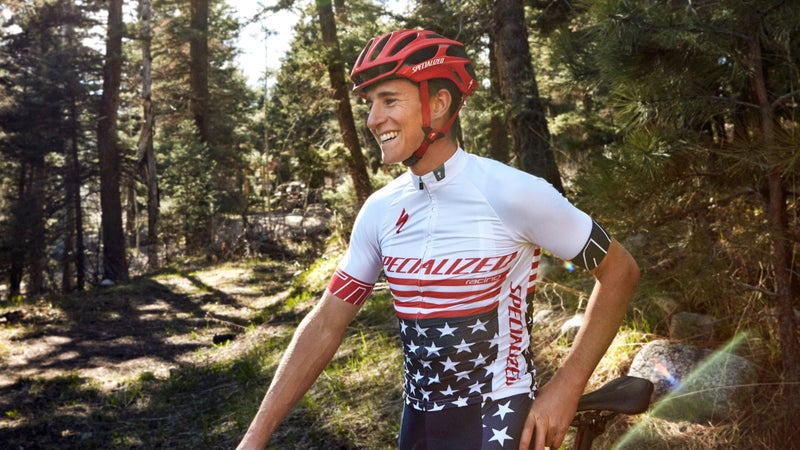 Grotts in the stars-and-stripes kit worn by reigning national champions.