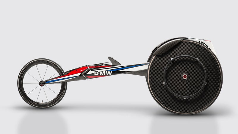 Six athletes on the USA Track and Field team will compete at the Paralympics this September in custom carbon-fiber wheelchairs dreamed up by Designworks, BMW's Southern California design firm.