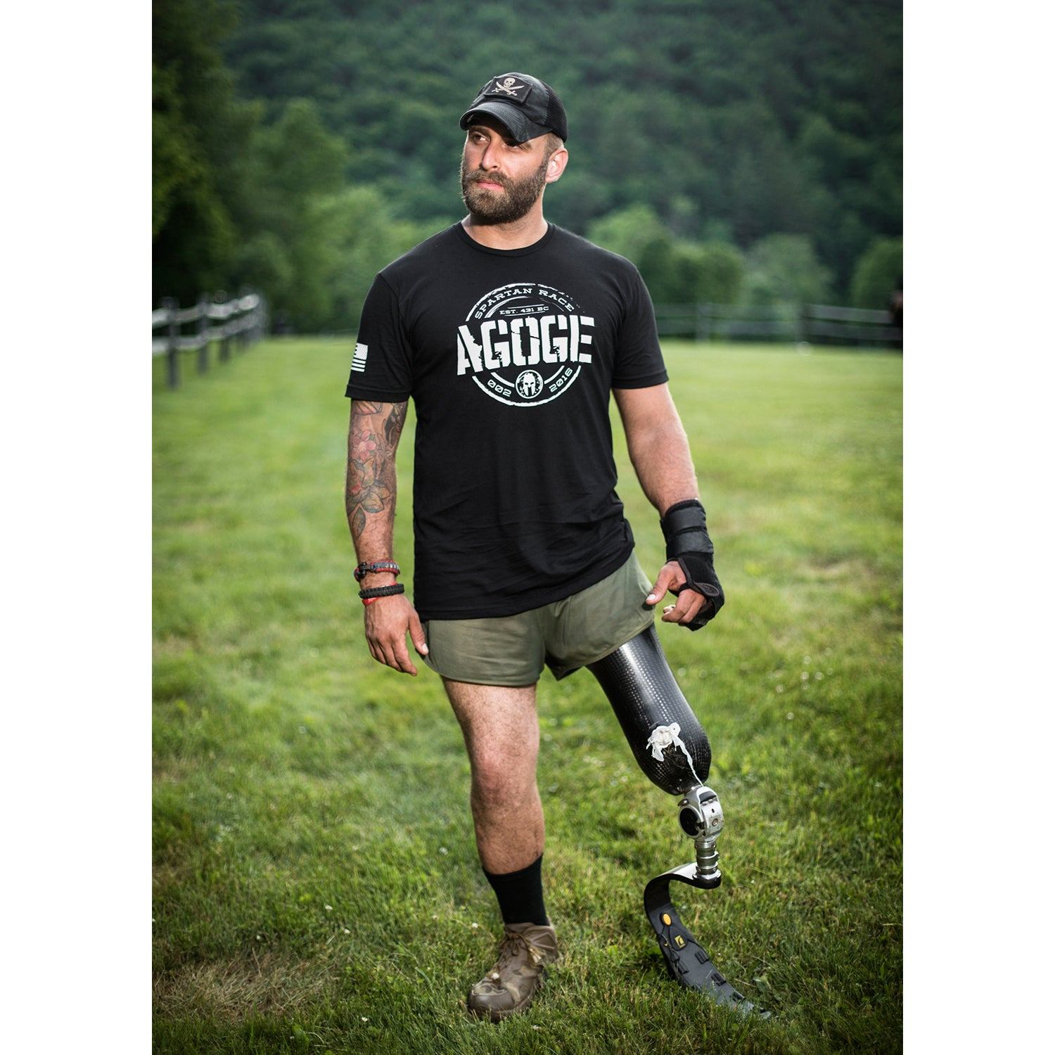 Earl Granville is a nine-year veteran under the Pennsylvania Army National Guard as an infantryman. In the summer of 2008, while on a patrol in Zormat, Afghanistan, his vehicle was hit by a roadside bomb, which resulted in the amputation of his left leg through the knee. His comrades, Specialist Derek Holland of Wind Gap, Pennsylvania, and Major Scott Hagerty of Stillwater, Oklahoma, were killed in action. After his injury, Earl found himself competing as an adaptive athlete in many sports, such as monoski, CrossFit, sled hockey, GORUCK challenge, and Spartan races. He is a team member for the veteran-operated nonprofit Operation Enduring Warrior and the lead ambassador of the veteran-founded clothing line Oscar Mike. After his injury, Granville has competed in the Boston, Detroit, Chicago, New York, and Marine Corps marathons, all on a hand bicycle under the Achilles Freedom Team.