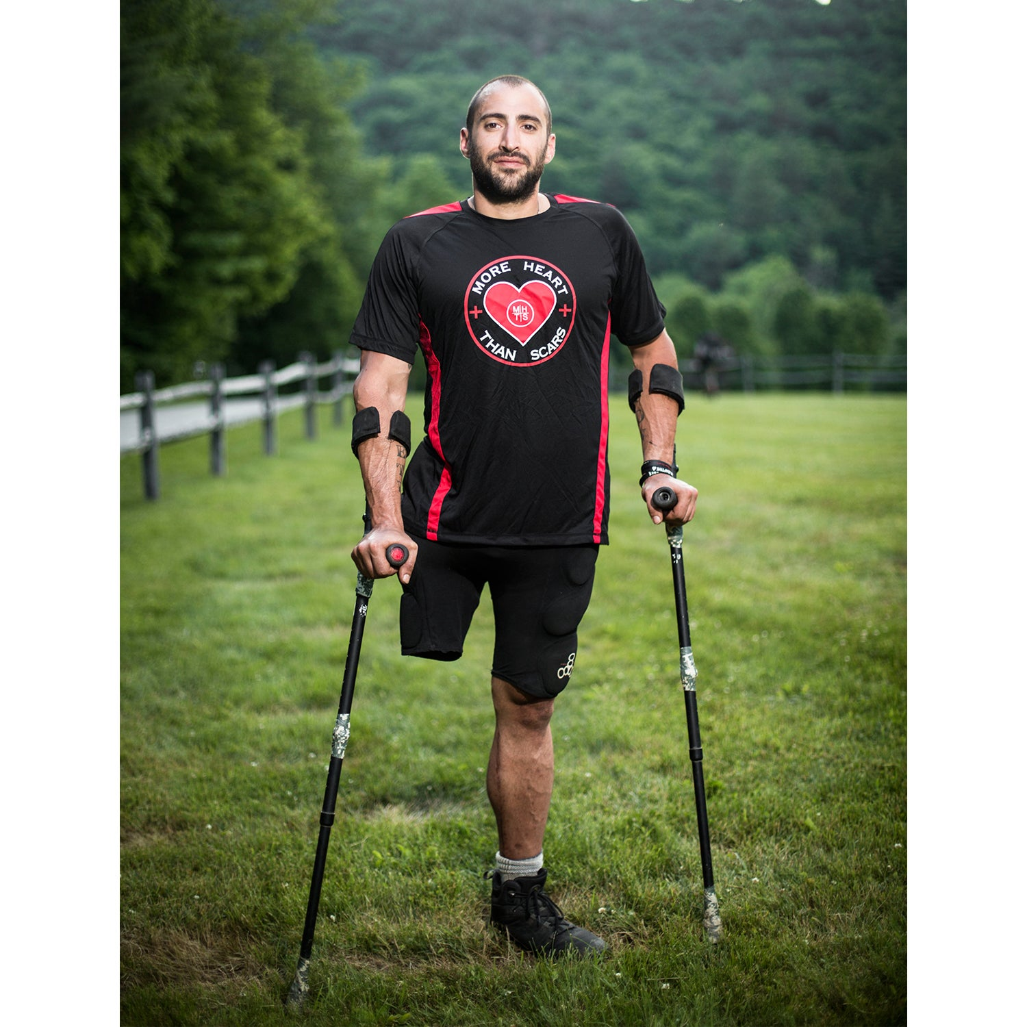 Matthew Pietro lost his leg in motorcycle accident after returning from combat. Struggling with his health and PTSD, Pietro joined More Heart Than Scars and has competed in a variety of Spartan races, and even completed the Spartan Trifecta.