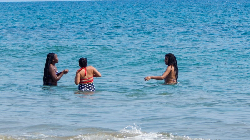 Just some kids enjoying the beach.They want me to teach swimming lessons next.