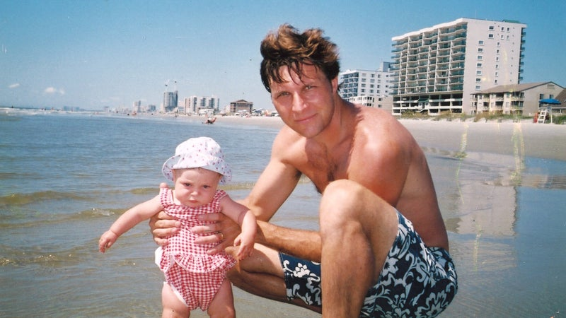 On vacation in Myrtle Beach, South Carolina, in 2003, when Eliot was about four months old