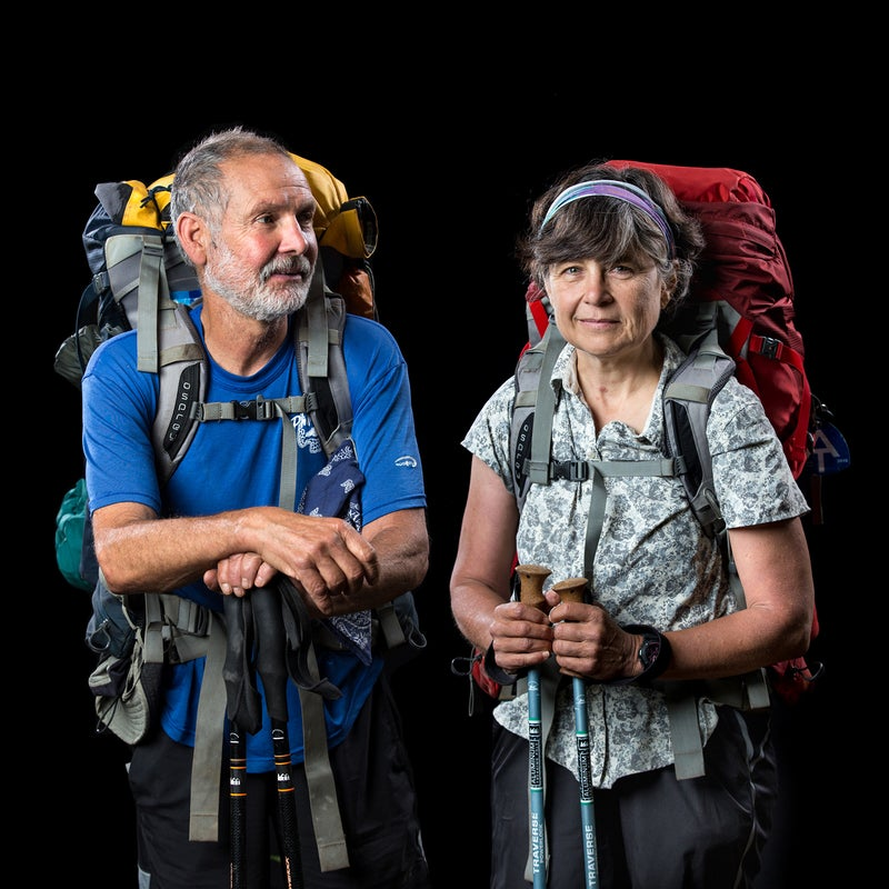 Trail Name: Lou and JulieAge: Lou, 65; Julie, 57From: Vineland, New Jersey, and Manitowoc, Wisconsin, respectivelyWhat's your motivation? Julie: About 12 years ago, we were on a one-week, 70-mile backpack trip across the Uinta Mountain Range in Utah and Wyoming. We felt quite proud of ourselves for doing such a big trip. Lou brought it into perspective when he commented that we only had to do it 30 more times to equal the distance of the Appalachian Trail. That was the seed that inspired the dream. We were both busy with our careers and needed affordable health insurance, so leaving our jobs was not an option. Lou retired in 2014 and did most of the trip planning, and I retired in February 2016. We were on the trail one month later. What has been the hardest part of the hike so far? Lou: At 65, carrying weight on my back is getting harder, the steep ups and downs, and realizing a six-month-long distance hike is much different than a one- or two-week backpack trip.Julie: Physically, it is much more difficult than I imagined. I thought I was in pretty good shape. I was exhausted after hiking ten miles those first few weeks. Having sore feet and not being able hike more quickly through the rocks is frustrating.Fun Fact? Lou: Our grandson and his family visited us on the trail. We had birthday cake trail magic. It was also the birthday of one of the other hikers—Josh. It was fun to help him celebrate his birthday with a piece of cake.Julie: We are amazed at the people. The people on the trail, the people in the towns, the people doing trail magic…anyone who does not think there are good people in the world needs to hike the trail. There are good, wonderful people all around us.