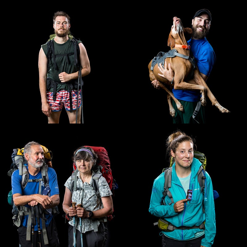 This spring, Virginia-based photographers Chet Strange and Parker Michels-Boyce set up a photo booth at Mile 806 of the Appalachian Trail. Using a classic studio backdrop, they captured dozens of northbound thru-hikers as they made their way toward Cold Mountain in the George Washington and Jefferson National Forests. Strange and Michels-Boyce aimed to capture the variety of folks and personalities tackling one of America's great trails. Here are 13 of our favorites.