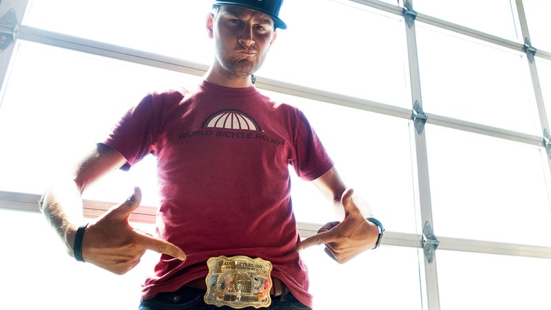 Belt buckle bragging rights.
