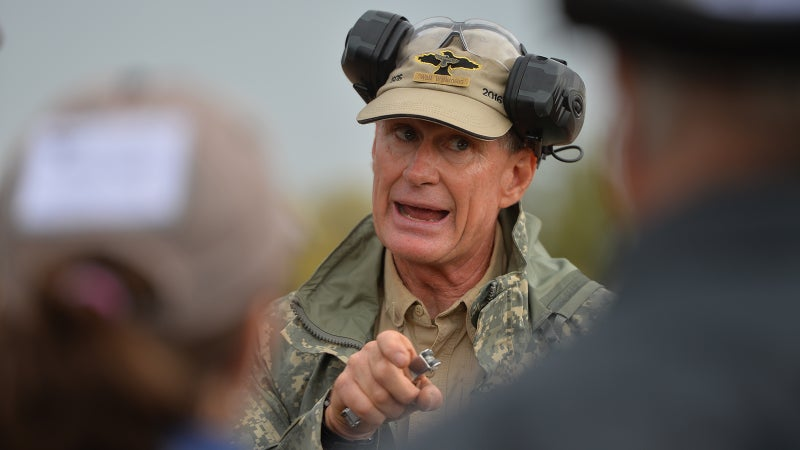 Wilkinson expresses extreme displeasure, the former Sergeant Major's most common emotion.