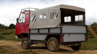 This cinder block on wheels can go just about anywhere.