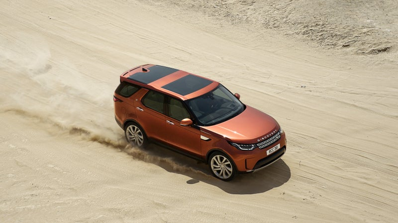 Just like the original, this 5th generation Discovery features stadium-style rear seating, where rear passengers sit higher than the row in front for a better view outwards. Large sunroofs front and rear should make the cabin feel very spacious.