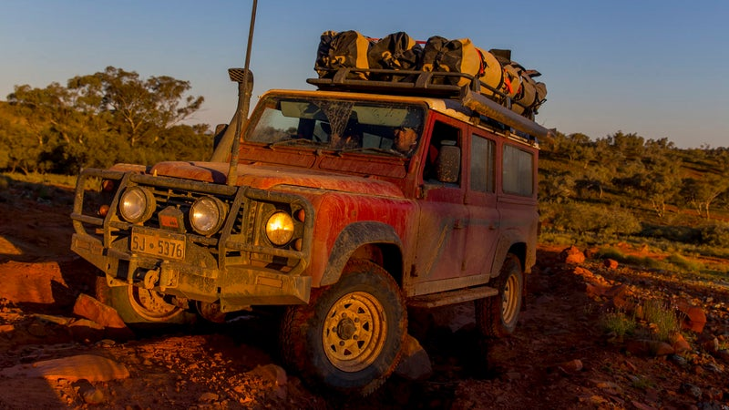 Six swags filled the entirety of this long wheelbase Land Rover's roof rack. And they noticeably impaired its handling; the additional 150 Lbs on the roof exacerbated body roll in corners, and while tackling off-road obstacles.