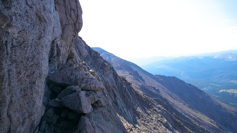 """""""The Keyhole route is NOT a hike!"""" Warns the NPS. This is a section of the route climbers must traverse."""