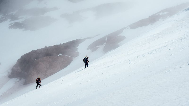 Breathability in winter gear is as important as insulation. On a mountain like Rainier, getting sweaty can kill you.
